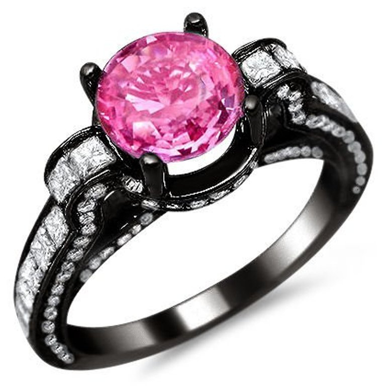 Black And Pink Wedding Rings: Black And Pink Wedding Rings