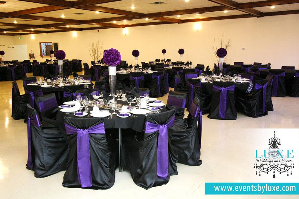 Black White And Purple Wedding Theme