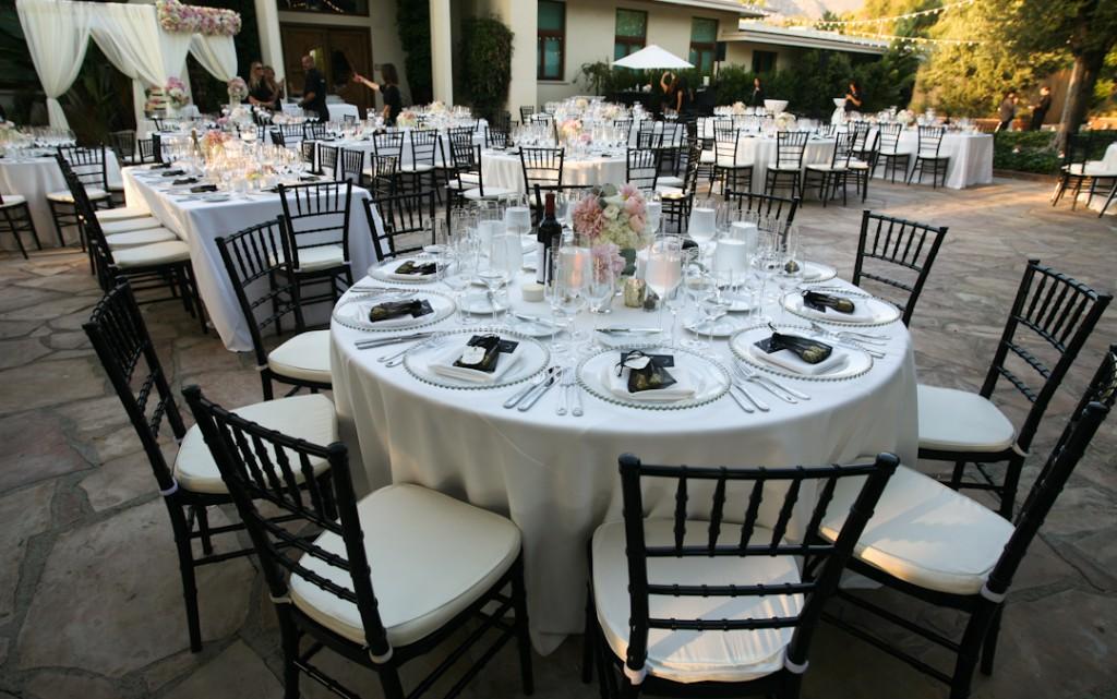 Black White Silver Wedding Decor