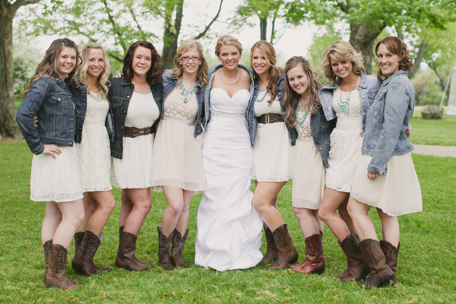 Country wedding bridesmaid dresses pictures