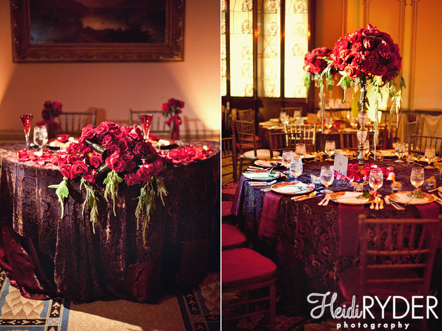 Burgundy wedding reception decorations - Burgundy and white wedding decorations ...