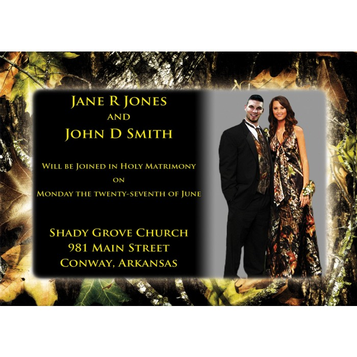 Awesome Cheap Camo Wedding Invitations Images - Styles & Ideas 2018 ...