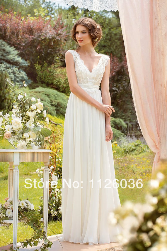 Silk Chiffon Beach Wedding Dress - Missy Dress