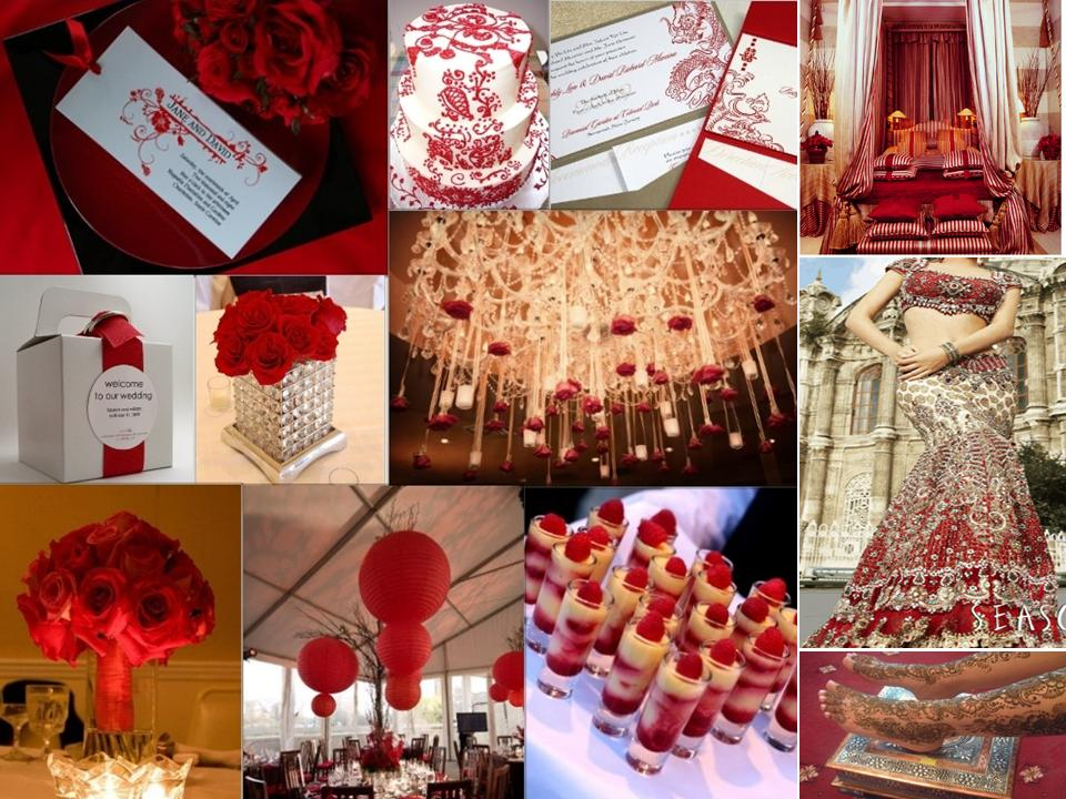 The gallery for red and gold quinceanera decorations for Red gold wedding ideas
