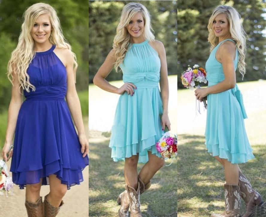 country bridesmaid dresses 2016 short hot cheap for wedding teal ...