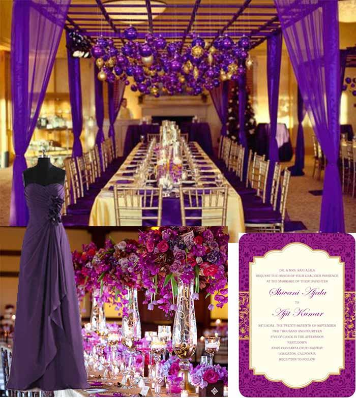 Dark Purple And Gold Weddinghyinvitation Com Invitation World