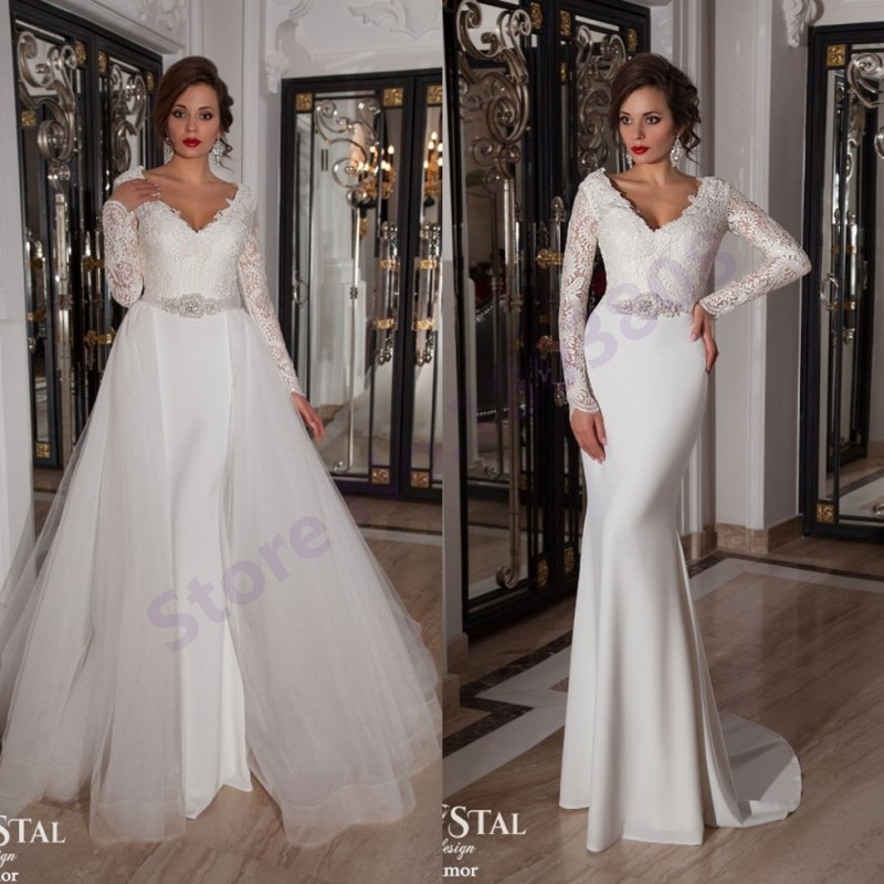 Stunning Wedding Dresses With Detachable Skirts Photos - Styles ...