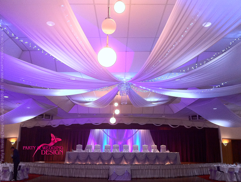Ceiling Drapes Wedding