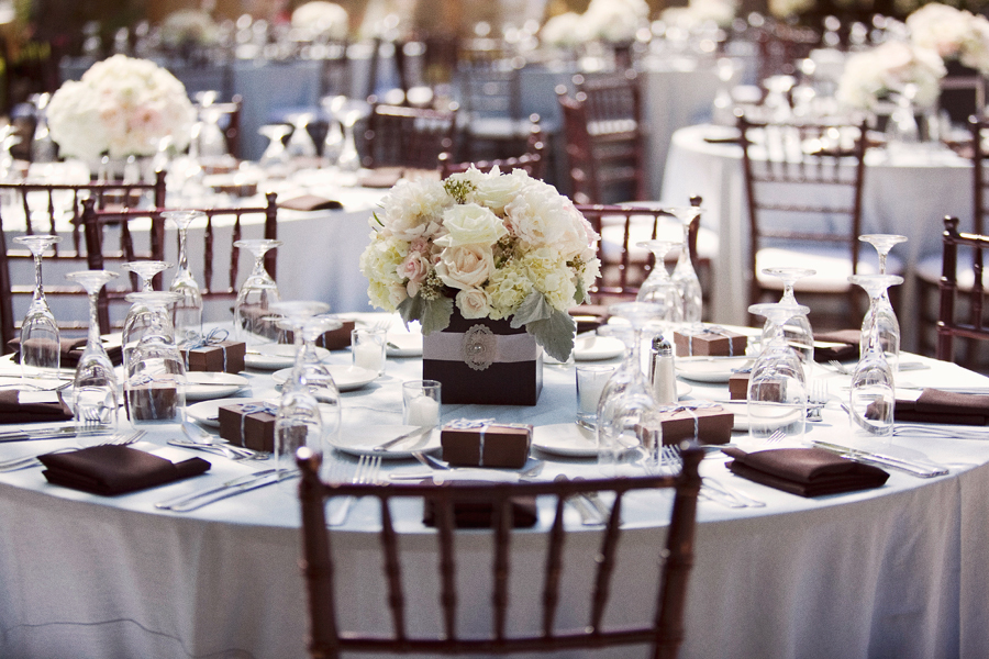 Elegant Seaside Inspired Wedding Reception Decor