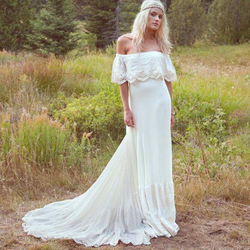 Country style wedding dress junglespirit Choice Image