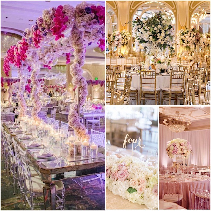 Floral Centerpieces Wedding Reception