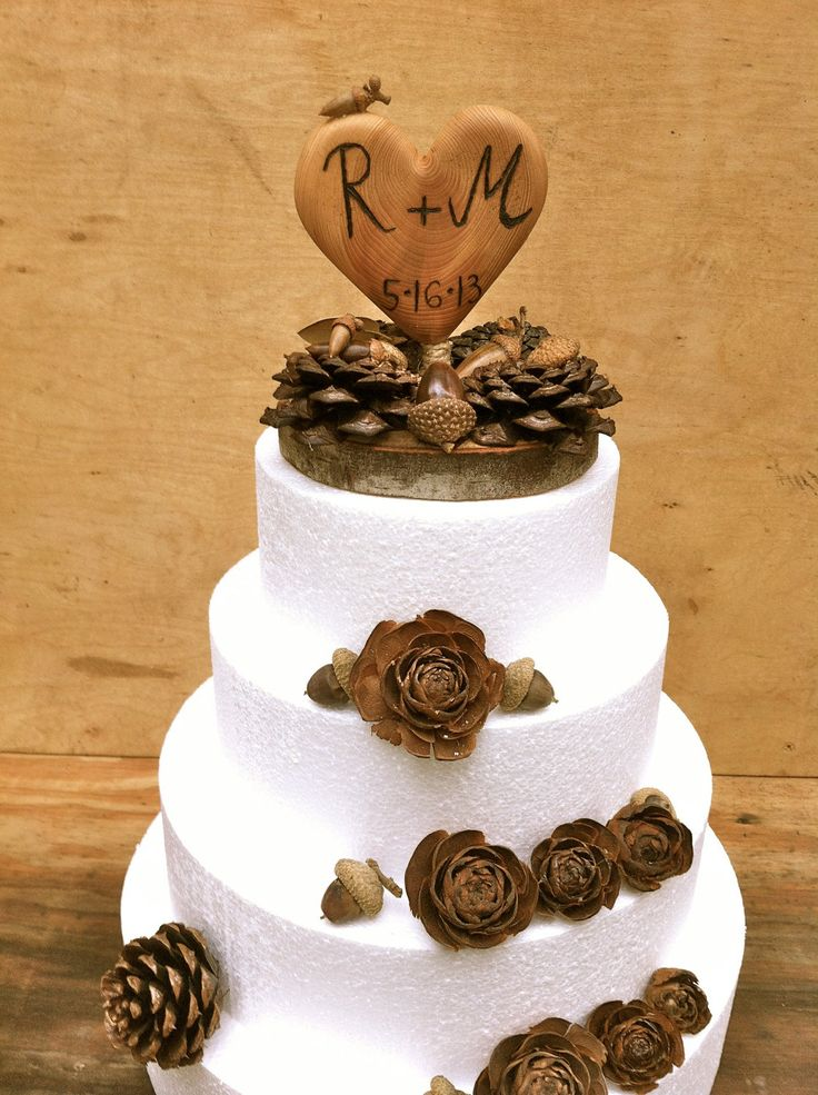 Fall Wedding Cake Topper
