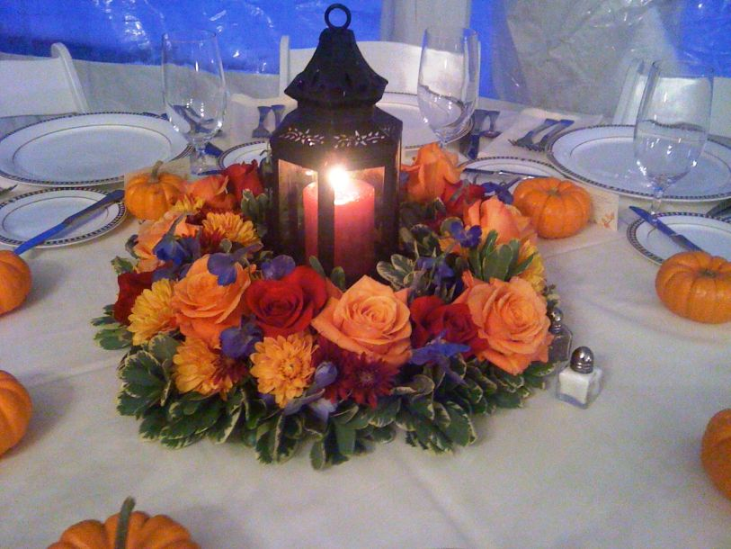 Wedding centerpieces ideas for fall for Fall wedding centerpieces