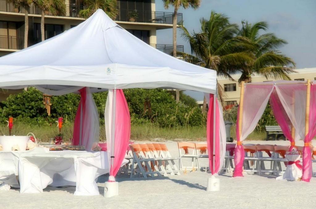 Florida Beach Wedding Receptionssuncoast Weddings & Canopy Wedding Reception