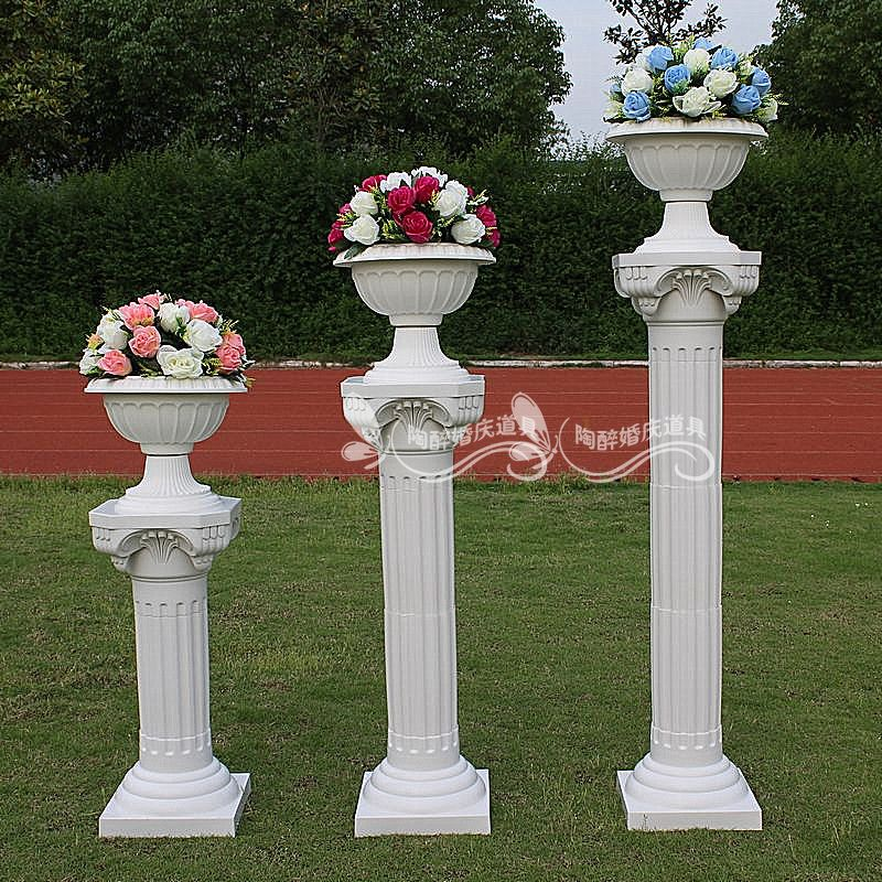 Wedding Flower Pillars: Flower Columns Weddings
