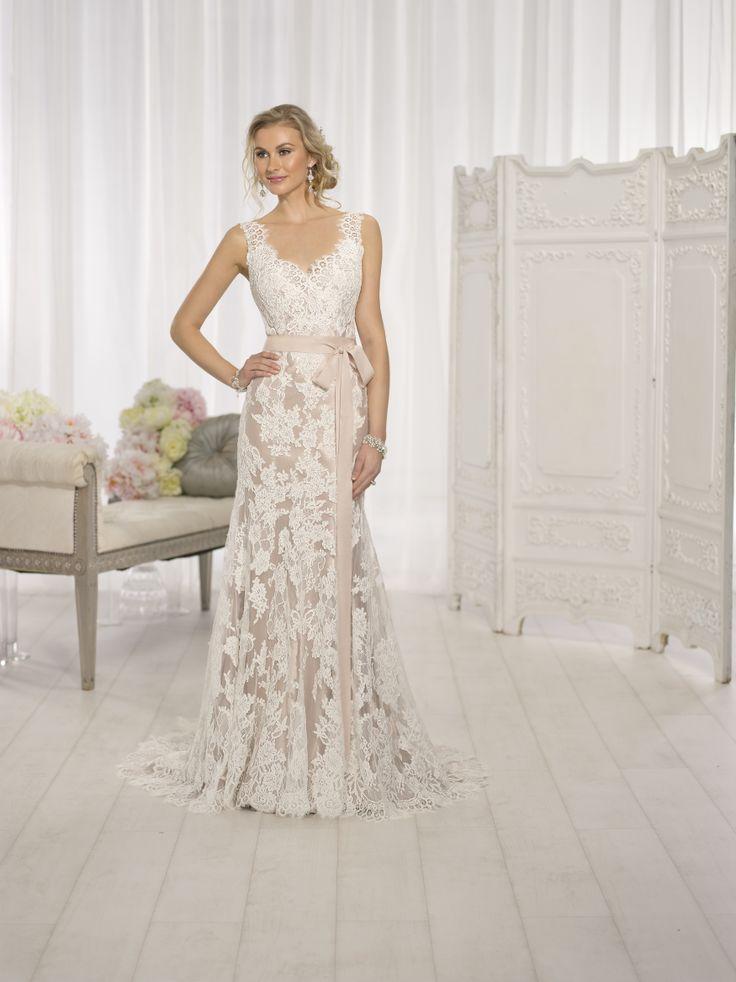 Lace Form Fitting Wedding Dress