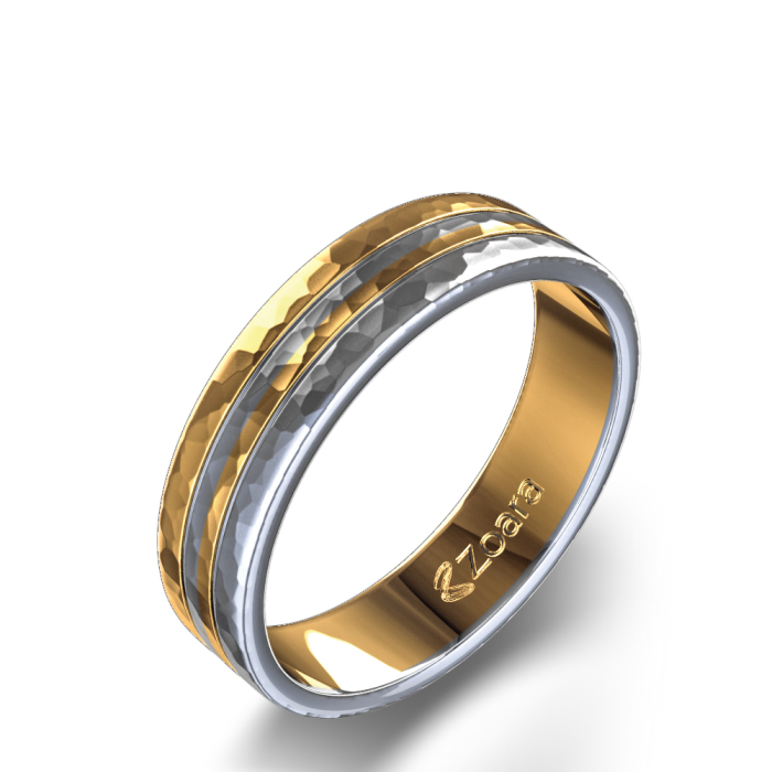 gay men wedding rings mens two tone wedding ring from zoara - Gay Mens Wedding Rings
