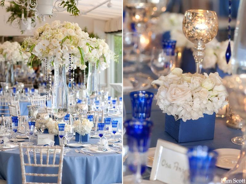 Blue And Silver Wedding Centerpieces Gallery - Wedding Decoration Ideas