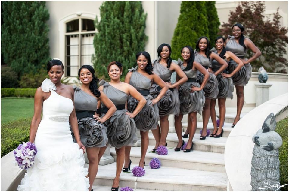 Grey And Purple Wedding