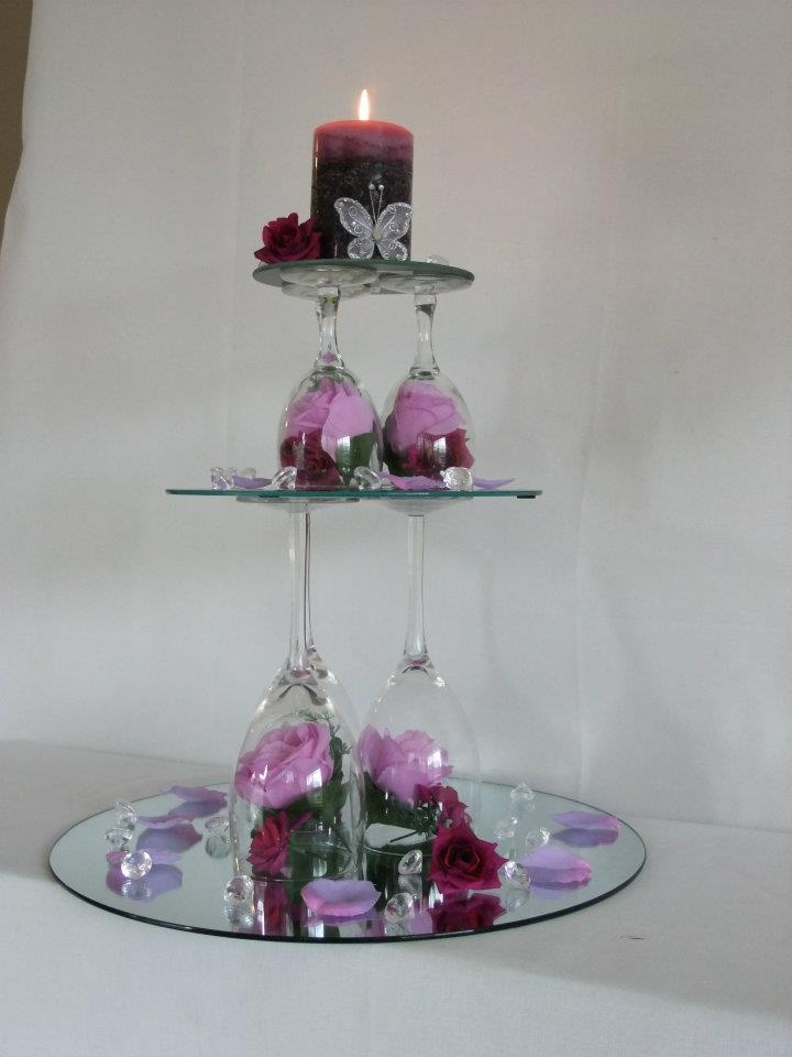 Wedding Centerpieces With Mirrors And Candles