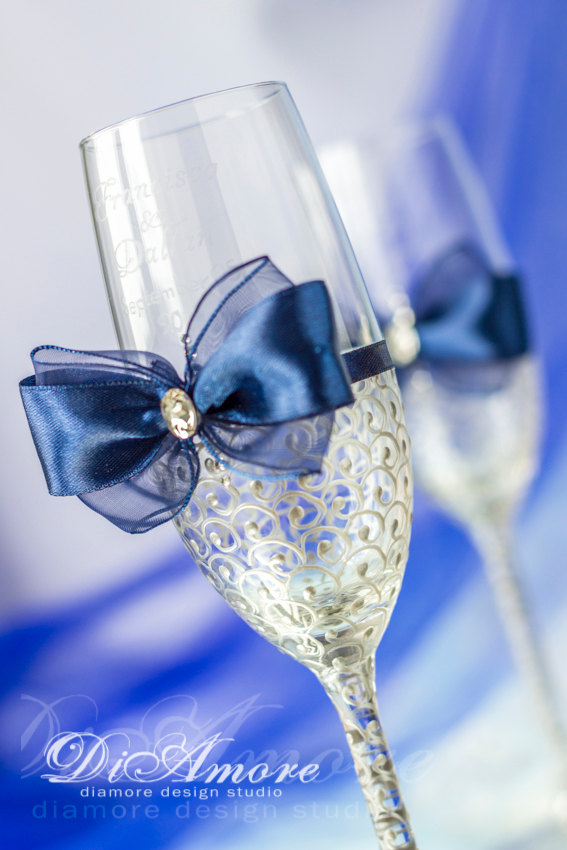 Best blue and silver wedding centerpieces photos styles ideas royal blue and silver wedding ideas junglespirit Images