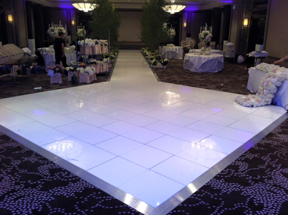 Dance Floor Lights Wedding