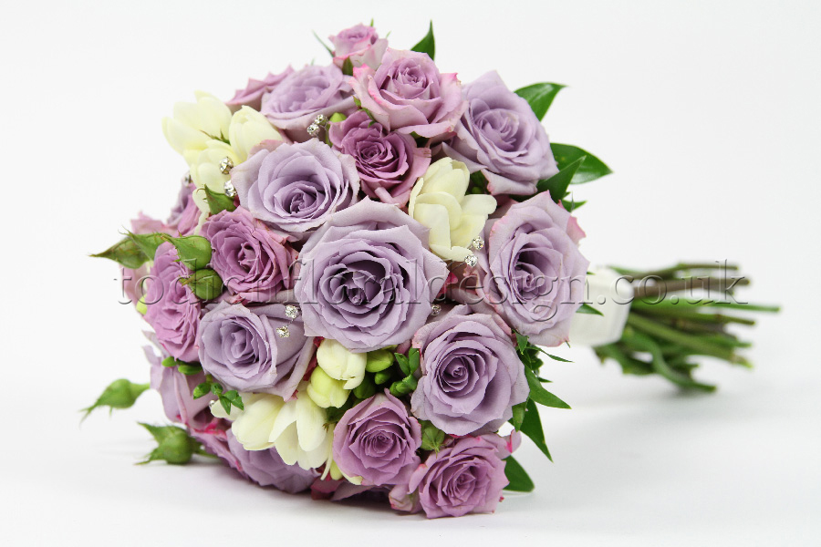 Lilac Wedding Flowers On With Bouquet 14