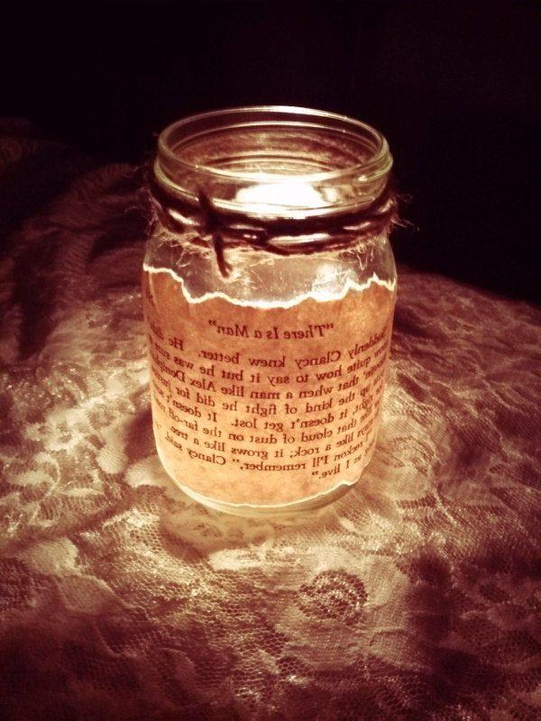 Mason Jar Candle Wedding Centerpieces