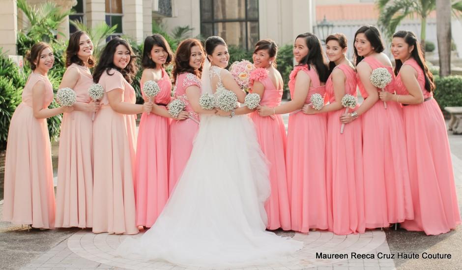 wedding entourage dress