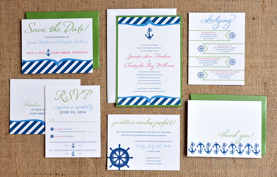 Theme Wedding Invitations – Nautical Wedding Invite