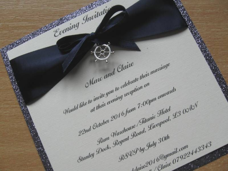 Nautical Theme Wedding Invitations