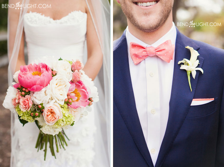 Navy Blue And C Wedding Colors Pop Of Color Goes A Long Way