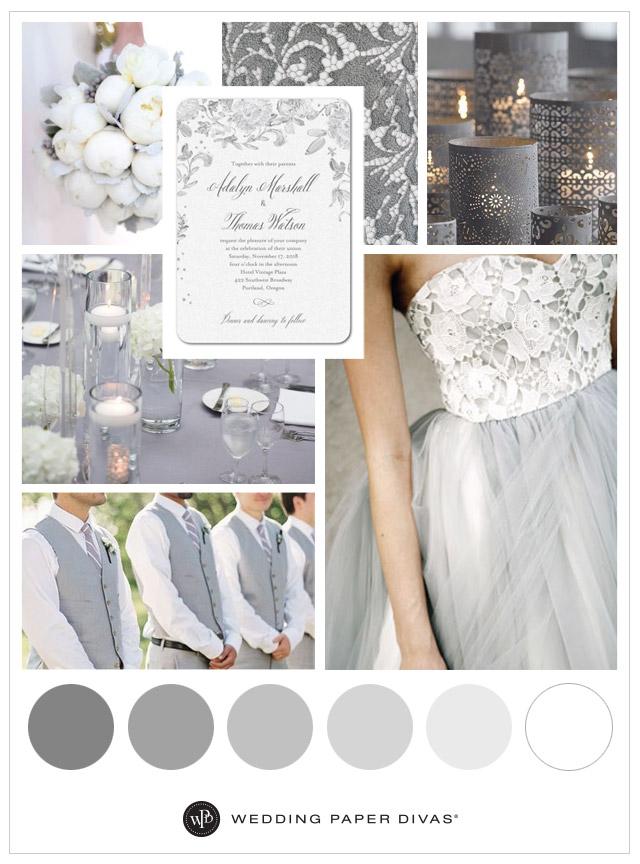 Neutral And Soft Grey Wedding Theme Ideas