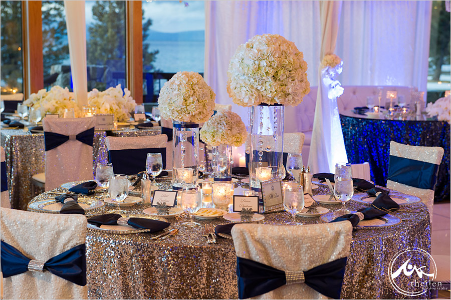 Nice Silver And Blue Wedding Decorations