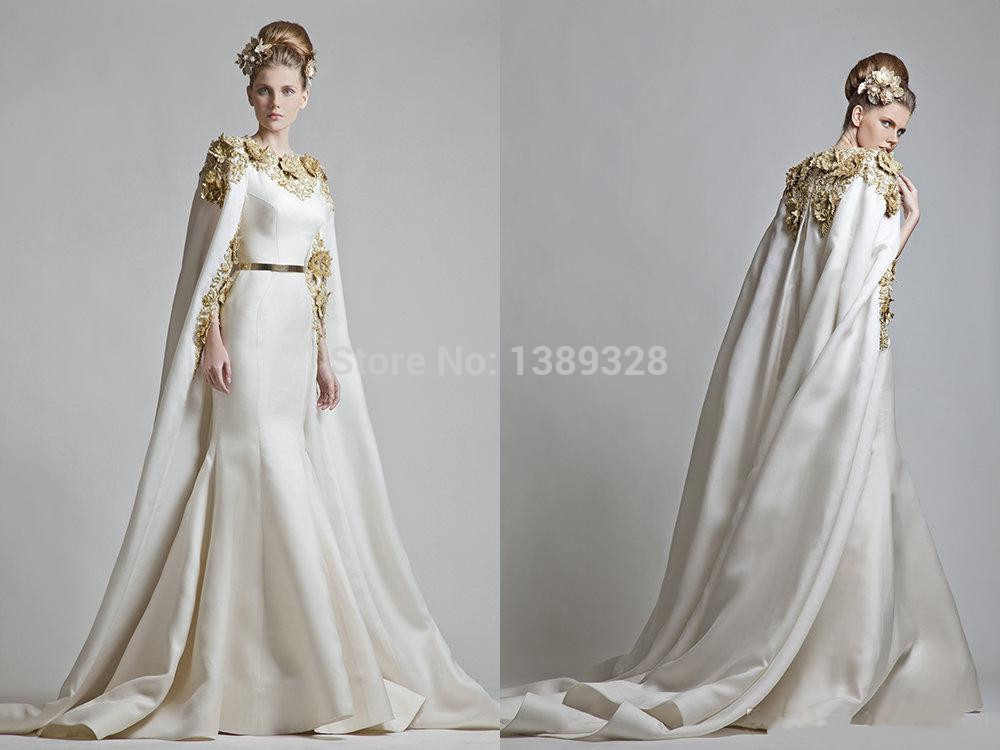 Wedding Gown With Cape: Wedding Gown With Cape