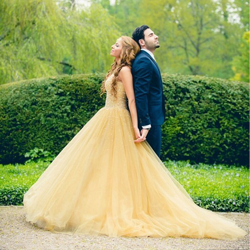 Light Yellow Wedding Dresses