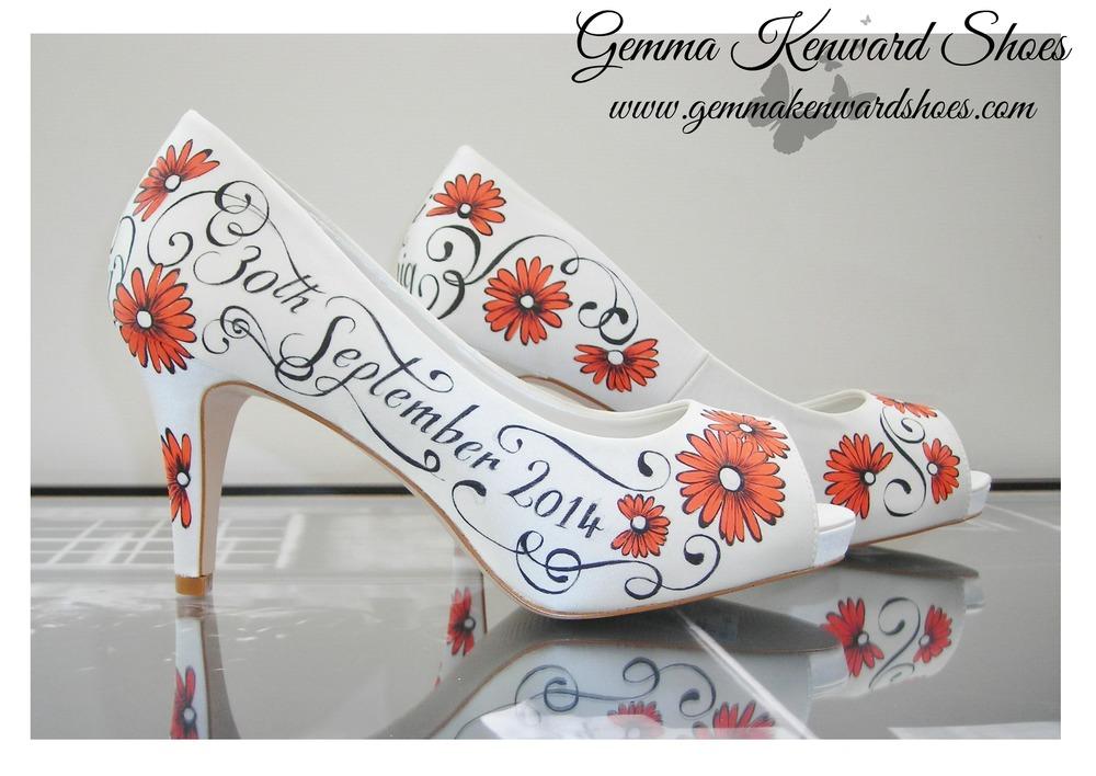 Orange Wedding Shoes Orange Wedding By Elliewrenweddingshoe Shoe