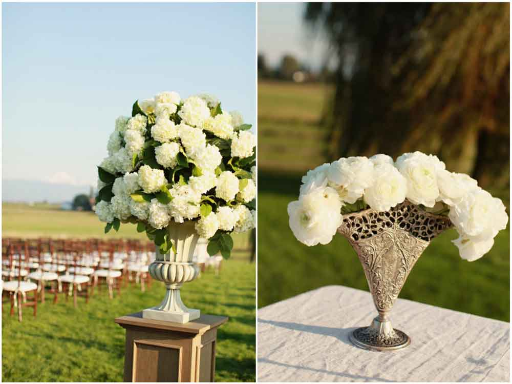 Wedding Flowers For Columns: Wedding ceremony decor t the pink but ...