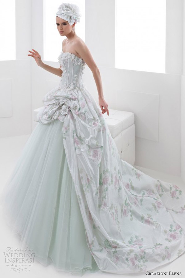 Pastel color dress the image kid has it for Pastel green wedding dress