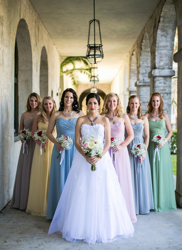 Wedding Dress Pastel Colors