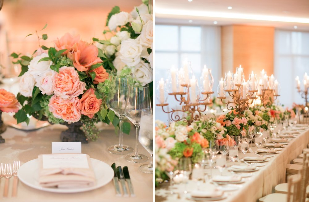 Peach Wedding Reception Decor