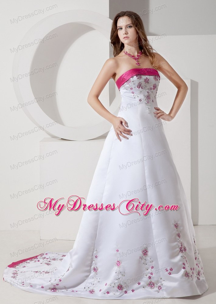 Hot Pink And White Wedding Dresses - Missy Dress