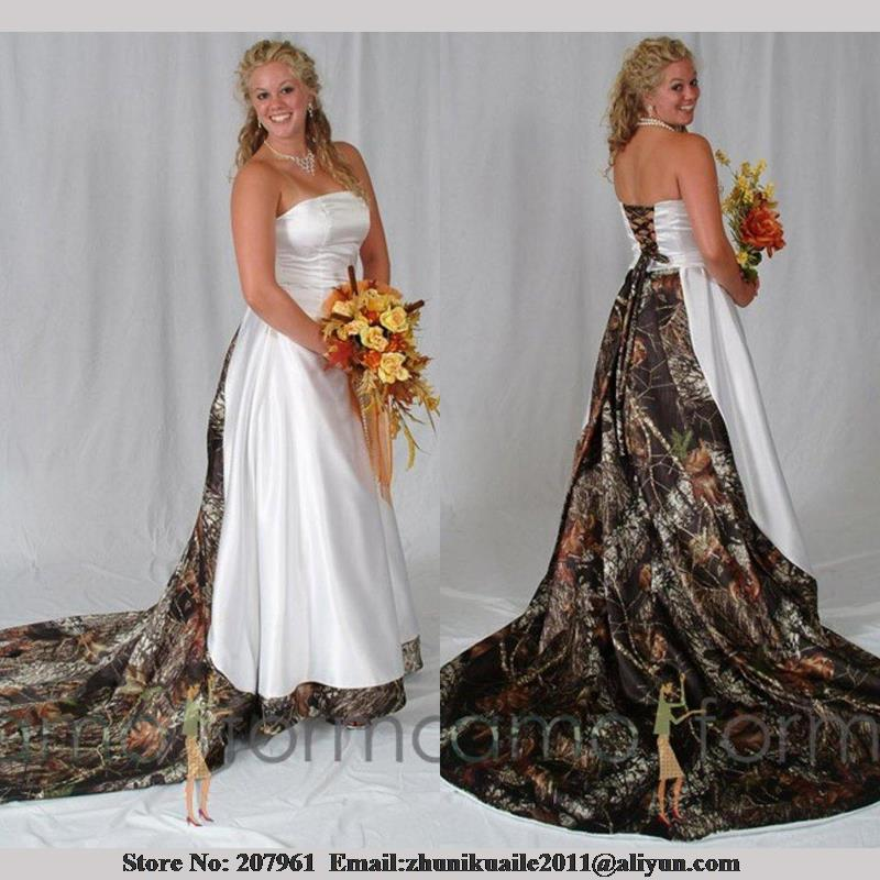 Camo Wedding Dresses: Camo Wedding Dress For Plus Sizes