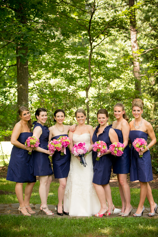 Rosy Pink Navy Wedding In Maine Photographer Tinker Photography Blush