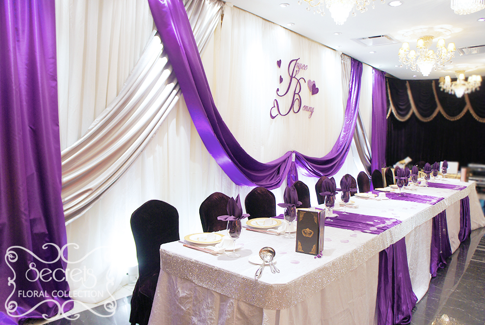 Wedding decoration ideas purple and silver junglespirit Images