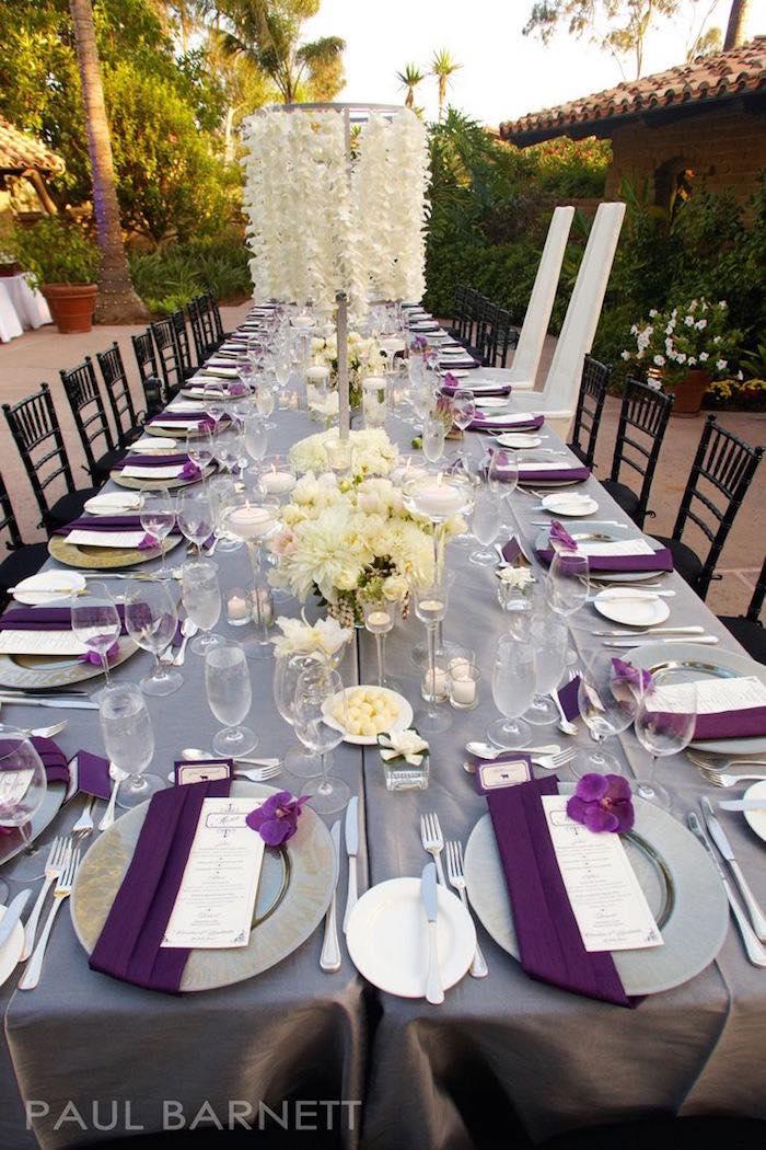 Purple And White Wedding Ideas