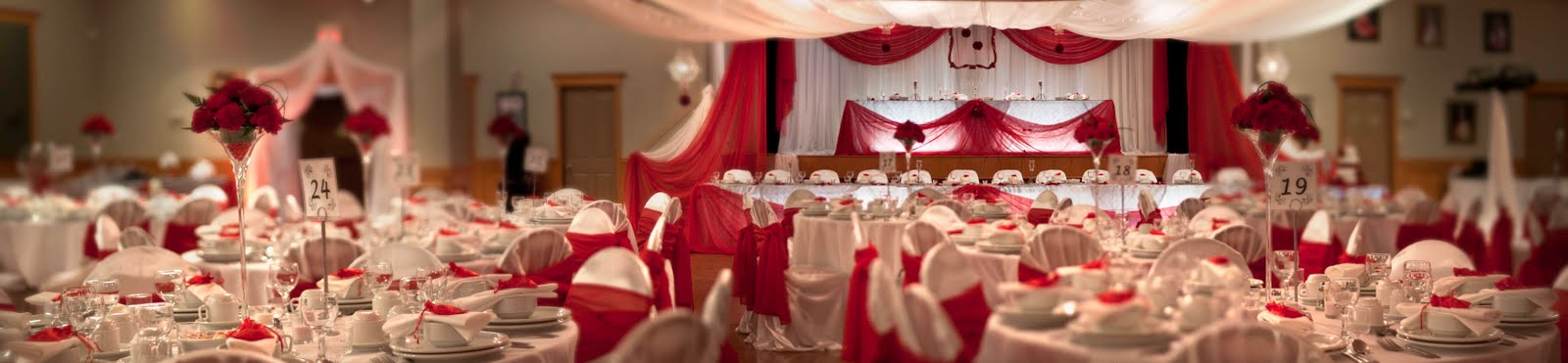 Red And Silver Wedding Reception Decorations Le