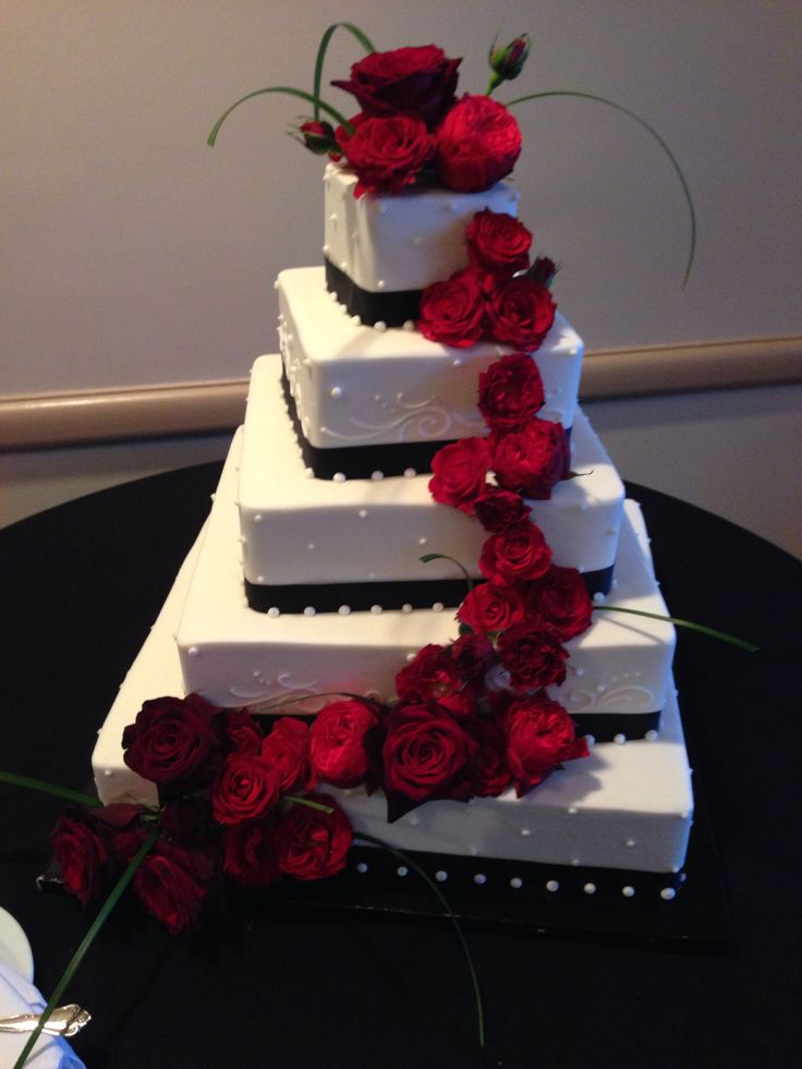 wedding cake ideas red and black and white wedding ideas 22932