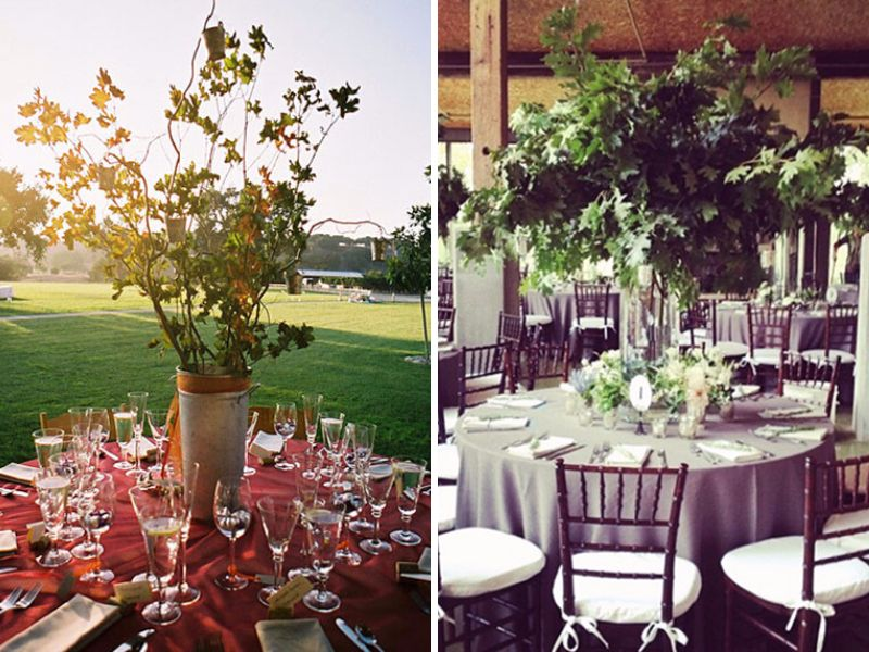 Round wedding centerpieces