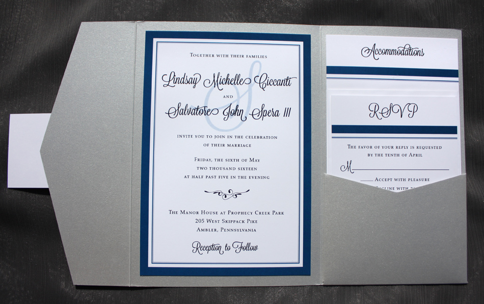 Royal Blue Wedding Invitation Ideas Yaseen For